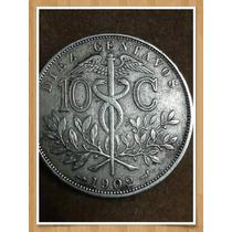Moneda Bolivia 10 Centavos 1902 Ref P2-12