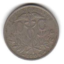 Moneda Bolivia 10 Centavos 1909 Km#174