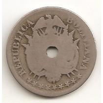 Bolivia, 10 Centavos, 1883. F-