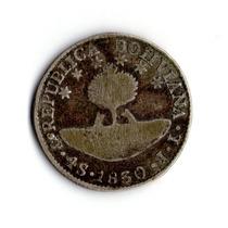 4 Soles De 1830 Bolivia - Moneda Antigua De Plata