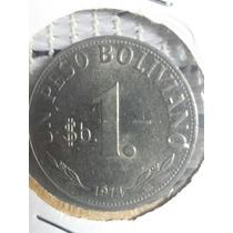 Moneda Bolivia 1 Peso 1974 Ref C12