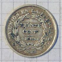 Bolivia 20 Ctvos Plata 1888