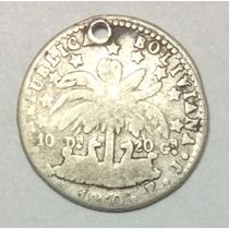 Moneda Bolivia 1 Sol 1860. Fj. Plata.