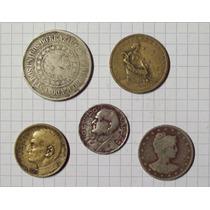 Brasil Colección 5 Monedas Diferentes