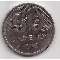 Brasil Moneda De 50 Cruzeiros Año 1985 !!!