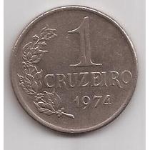 Brasil Moneda De 1 Cruzeiro Año 1974 !!!
