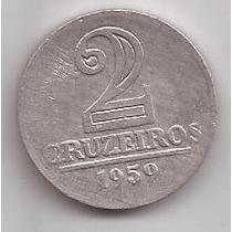 Brasil Moneda De 2 Cruzeiros Año 1959 !!!