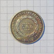 Brasil 500 Reis Plata Imperio 1865