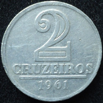 Brasil - 2 Cruzeiros Año 1961..................... Blamanan