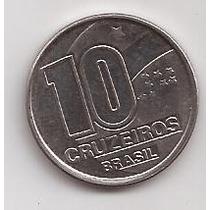 Brasil Moneda De 10 Cruzeiros Año 1990 !!