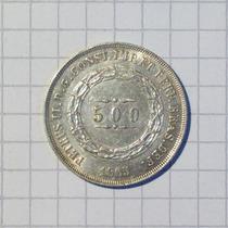 Brasil 500 Reis Plata 1865 Imperio