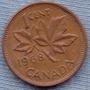 Canada 1 Cent 1968 * Hoja De Maple * Elizabeth Ii *