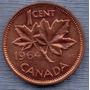Canada 1 Cent 1964 * Hoja De Maple * Elizabeth Ii *