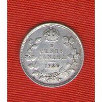 Moneda 5 Ctvos De Canada 1920