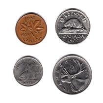 Lote Monedas Canada 5 A 25 Cents Elizabeth Ii