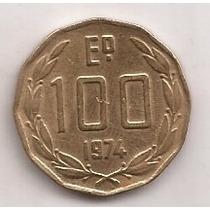 Chile Moneda De 100 Escudos Año 1974