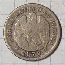 Chile 20 Ctvos 1879 Plata