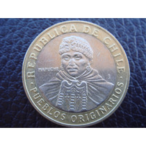 Chile Moneda Bimetalica 100 Pesos Pueblos Originarios