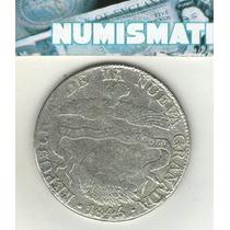 Colombia Nueva Granada 8 Reales De Plata 1845 R.s. Km 98