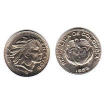 Moneda Colombia 10 Centavos Año 1959 Sin Circular