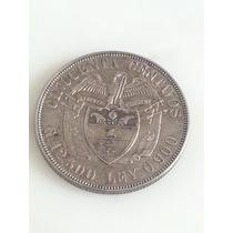 Moneda Colombia 50 Centavos 1922 De Plata Excelente