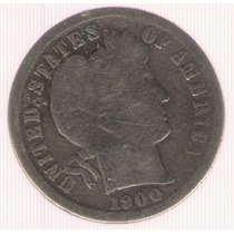 Estados Unidos Usa 1 Dime 1900 B+