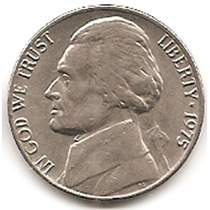 Moneda Estados Unidos De 5 Centavos.five Cents Año1975