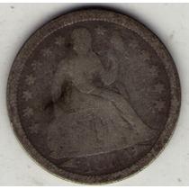 Estados Unidos Usa 1 Dime 1853 B+