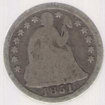 Estados Unidos Usa 1 Dime 1851 B