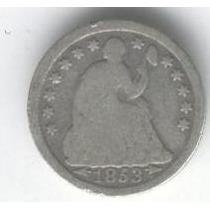 Estados Unidos Usa 1/2 Dime 1853 B+