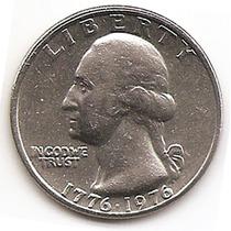 Moneda Estados Unidos De 25 Cent Cuarter Bicentenario 1976