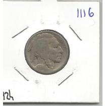 Estados Unidos Moneda 5 Centavos De 1924 Bufalo