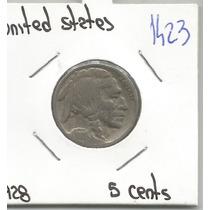 Estados Unidos Moneda 5 Centavos Bufalo De 1928