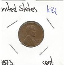 Estados Unidos Moneda De Un Centavo 1957 D