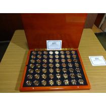 Robmar-usa-maletín De Roble Con 56 Quarter Bañados En Oro