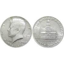 Moneda Medio Dólar 1976