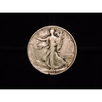 Moneda 1/2 Dolar Liberty 1940 S Eeuu 12,5 Plata 900 Half