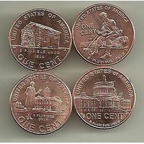 4 Monedas Estados Unidos 1 Centavo Año 2009 Vida Lincoln