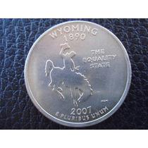 U. S. A. - Wyoming, Moneda De 25 Centavos (cuarto), Año 2007