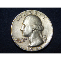 Moneda Dolar 1/4 1965 Quarter Dolar