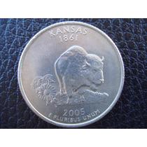 U. S. A. - Kansas, Moneda De 25 Centavos (cuarto) Año 2005