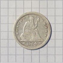 Estados Unidos ¼ Dólar Plata 1854