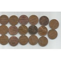 Estados Unidos Lote De 17 Monedas De Un Centavo Decada 70