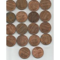 Estados Unidos Lote De 18 Monedas De Un Centavo Decada 80