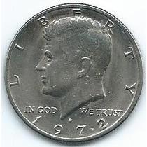Moneda De Ee Uu 1/2 Dolar 1972 (d) Mejor Que Muy Buena