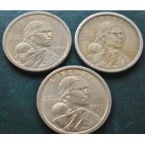 Usa Moneda 1 Dolar Sacagawea Años 2000 P-d Y 2001 P