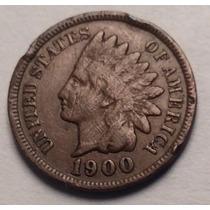 Moneda Usa 1 Centavo 1900. Cabeza De Indio