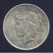 Usa Dolar Peace 1922 Moneda De Plata Km 150 Muy Buena