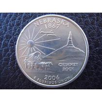 U. S. A. - Nnnebraska, Moneda De 25 Centavos (cuarto), 2006