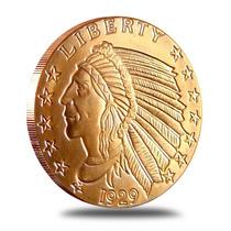 Moneda Indio Con Aguila - 1 Onza Cobre Puro 999 -